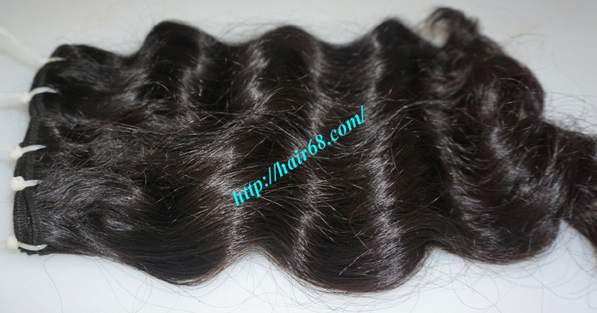 16 inch Weave Remy Hair Extensions - Steam Wavy 8