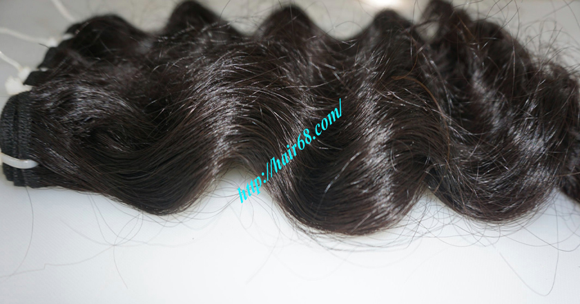 16 inch Weave Remy Hair Extensions - Steam Wavy 9