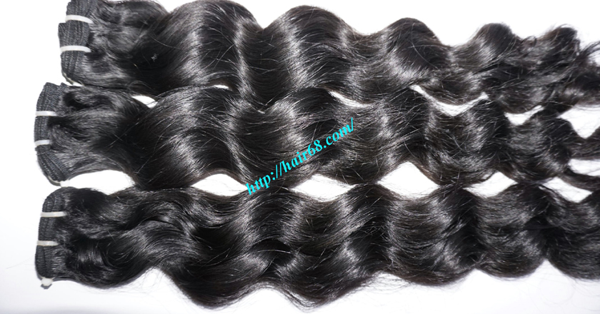 16 inch Wavy Hair Weave Extensions - Steam Wavy 1