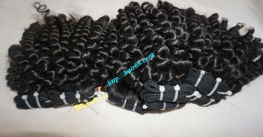 18 inch Curly Weave Hair Vietnam Hair Extensions - Single Drawn 4