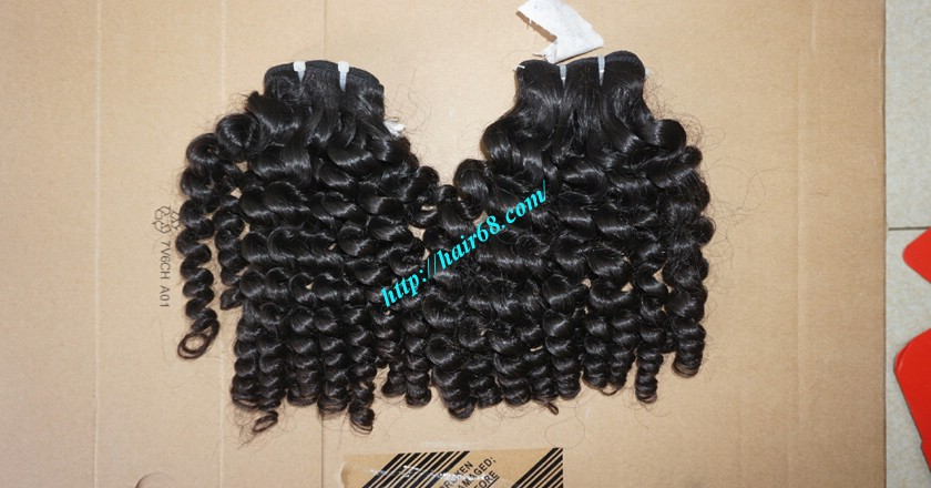 18 inch Curly Weave Hair Vietnam Hair Extensions - Single Drawn 7