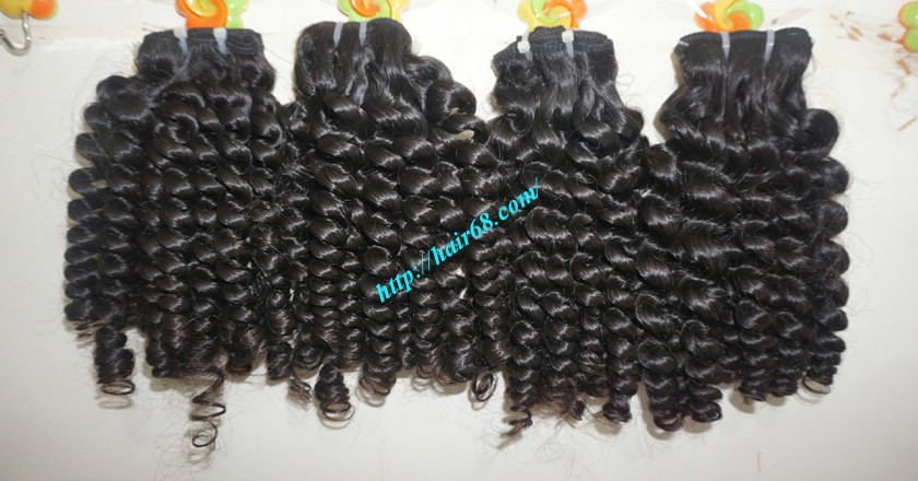 18 inch Curly Weave Hair Vietnam Hair Extensions - Single Drawn 8