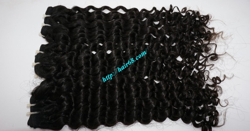 18 inch Curly Weave Hair Vietnam Hair Extensions - Single Drawn 1