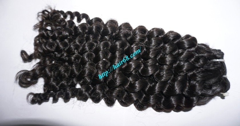 18 inch Curly Weave Hair Vietnam Hair Extensions - Single Drawn 2