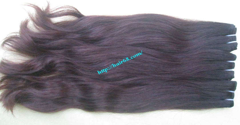 18 inch Wavy remy hair weave – Natural wavy 1