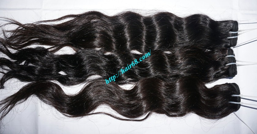 18 inch Remy Human Hair Weave - Steam Wavy 3