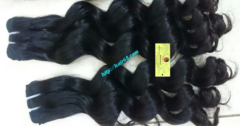 18 inch Remy Human Hair Weave - Steam Wavy 5