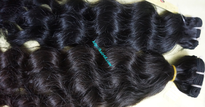 18 inch Weave Remy Hair Extensions - Steam Wavy 1