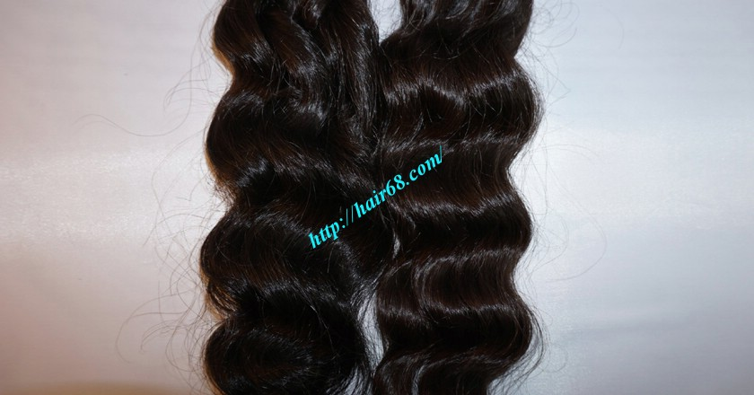 18 inch Weave Remy Hair Extensions - Steam Wavy 2