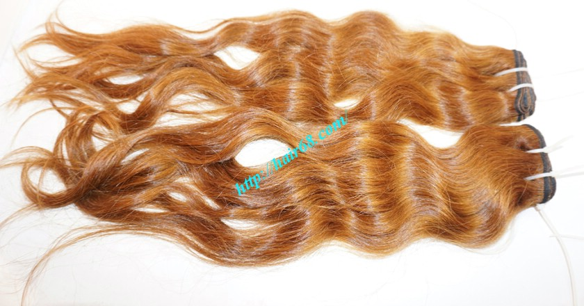 18 inch Weave Remy Hair Extensions - Steam Wavy 3