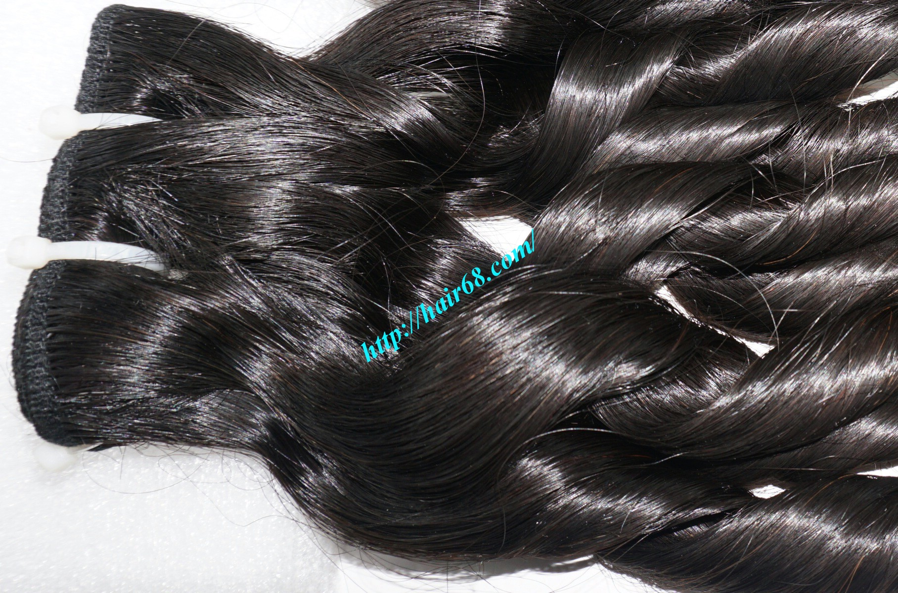 20 inch - Weave Loose Curly Hair Extensions - Double Drawn 1