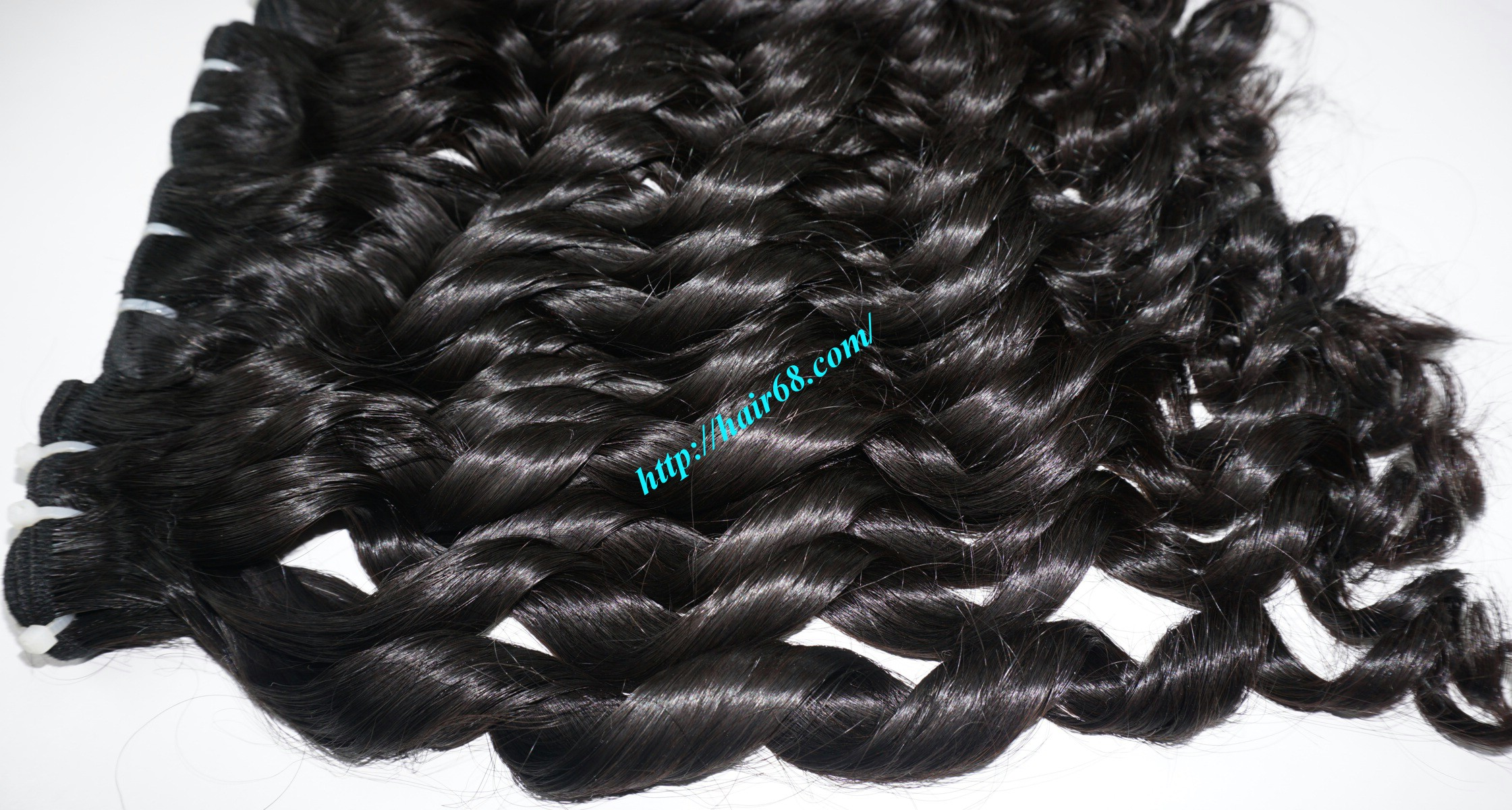 20 inch - Weave Loose Curly Hair Extensions - Double Drawn 9