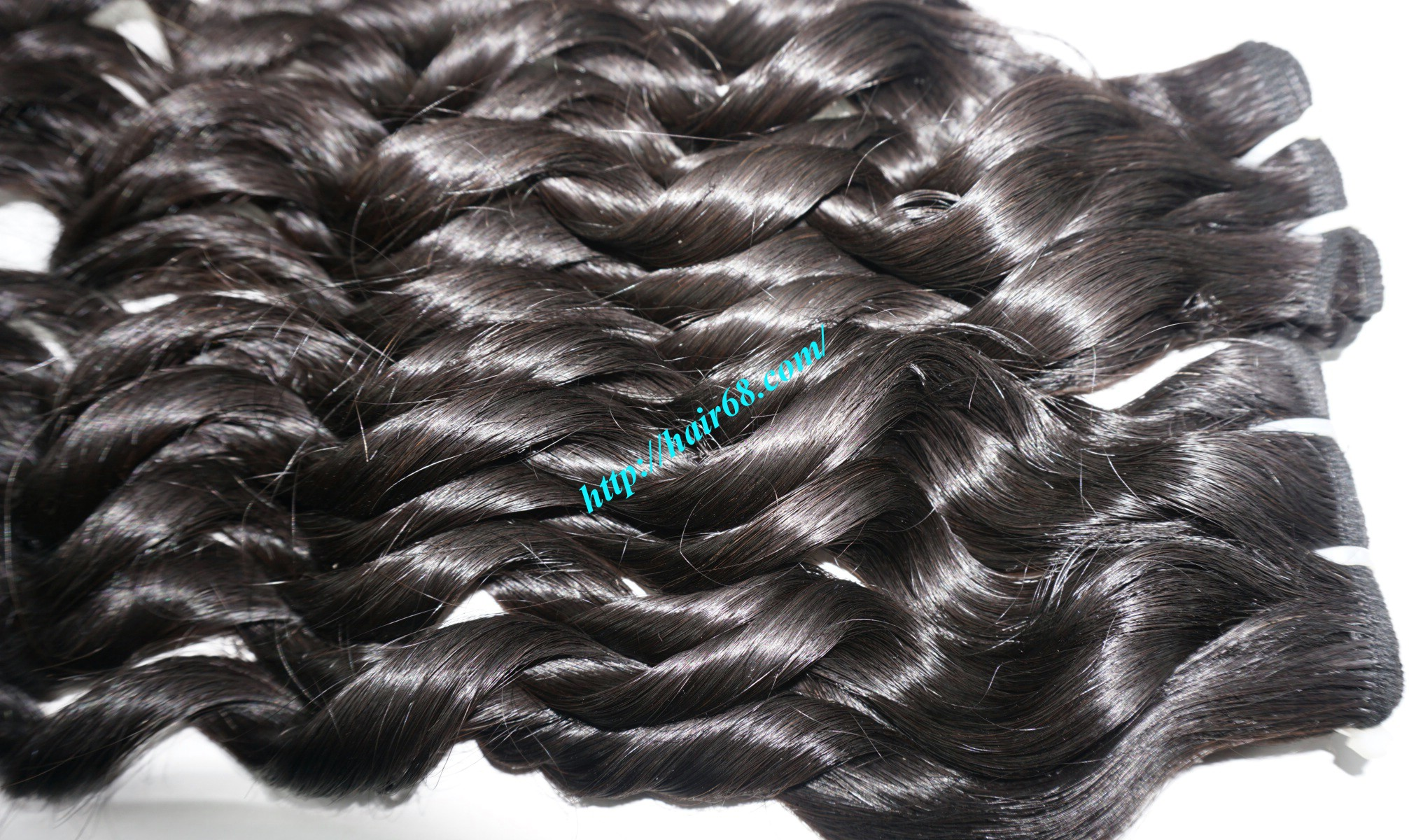 20 inch - Weave Loose Curly Hair Extensions - Double Drawn 10