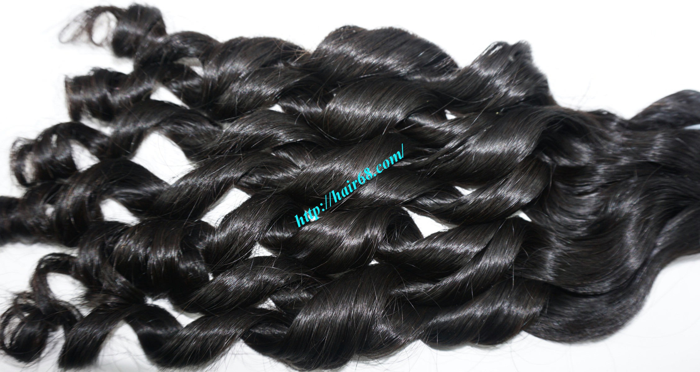 20 inch - Weave Loose Curly Hair Extensions - Double Drawn 12