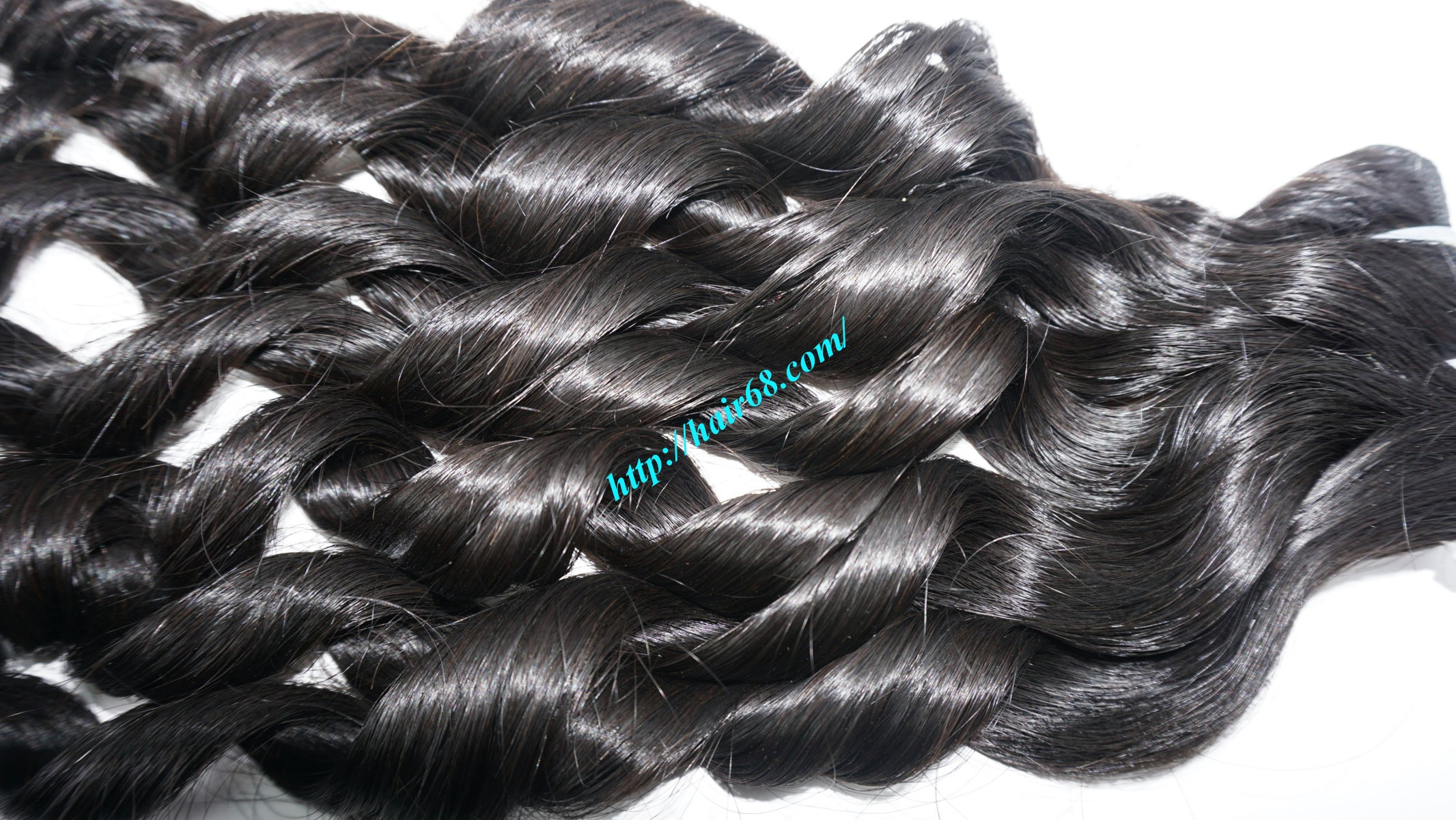 20 inch - Weave Loose Curly Hair Extensions - Double Drawn 13