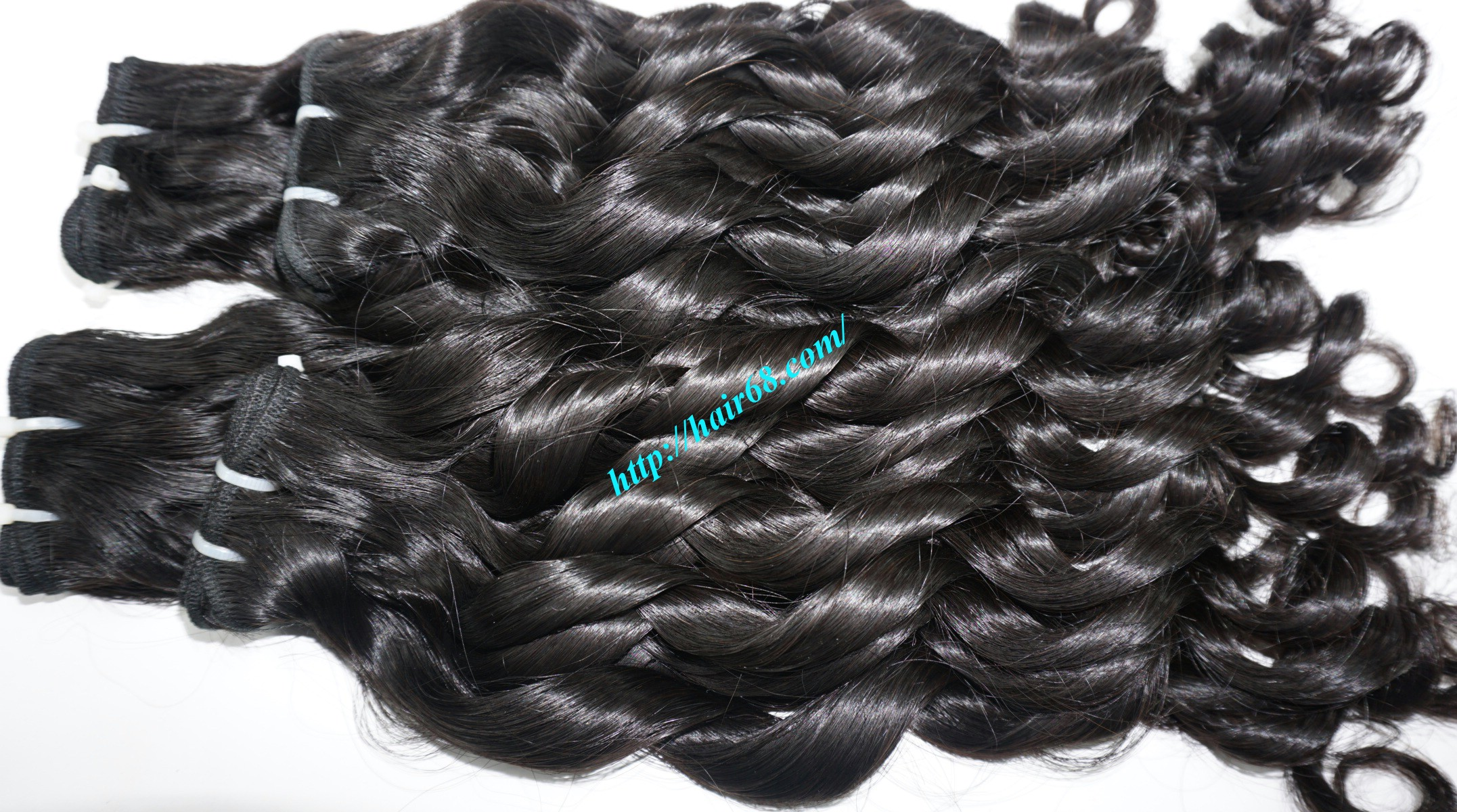 20 inch - Weave Loose Curly Hair Extensions - Double Drawn 14