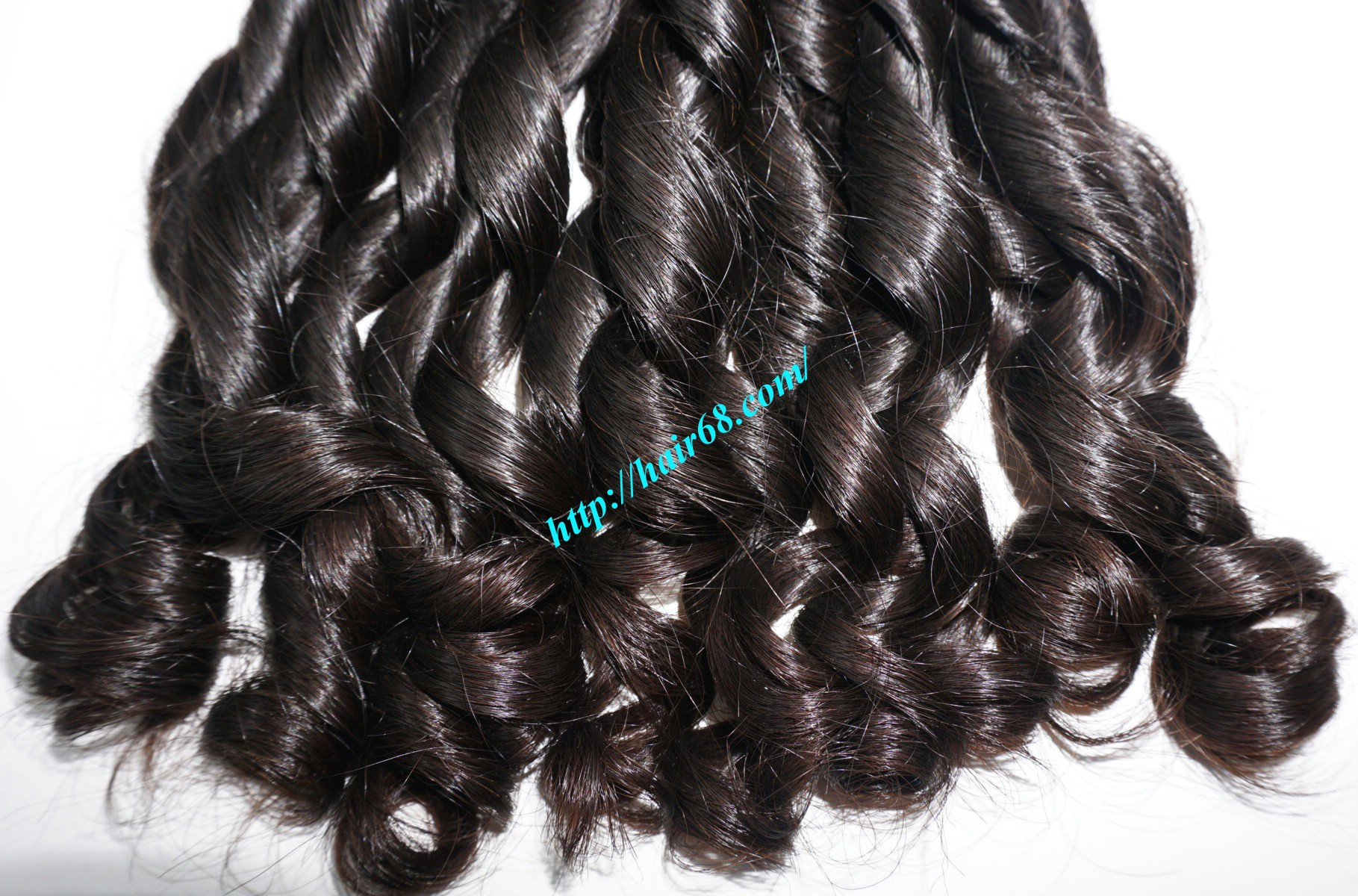 20 inch - Weave Loose Curly Hair Extensions - Double Drawn 3