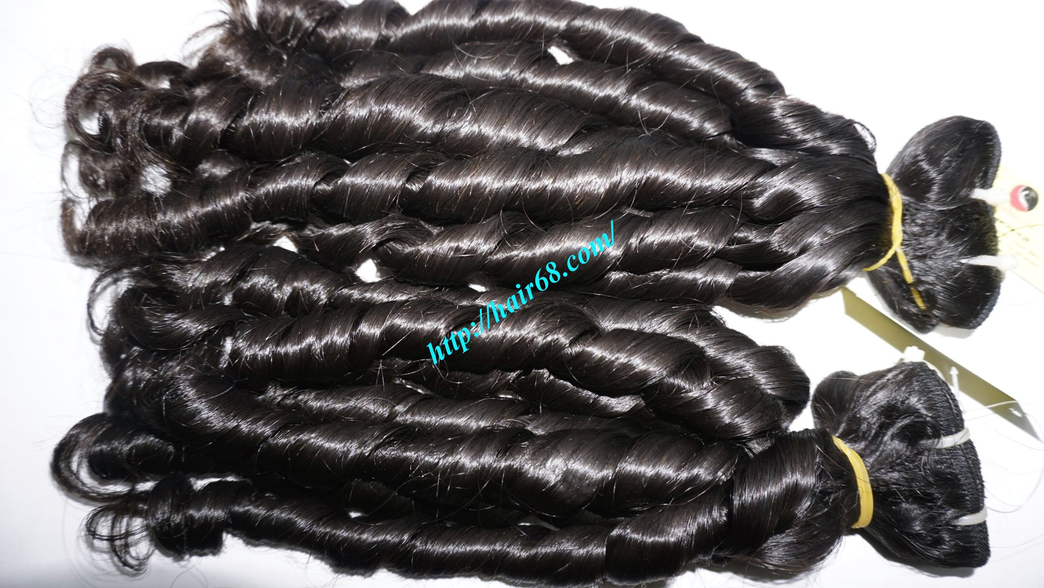 20 inch - Weave Loose Curly Hair Extensions - Double Drawn 5