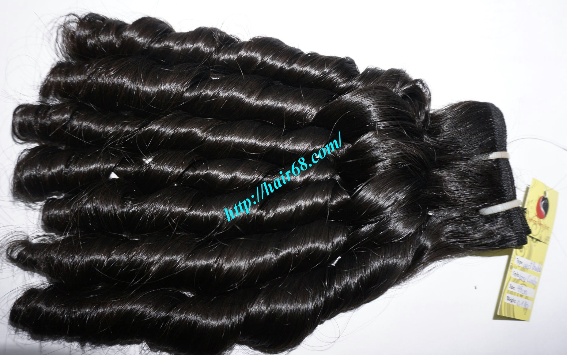 20 inch - Weave Loose Curly Hair Extensions - Double Drawn 6
