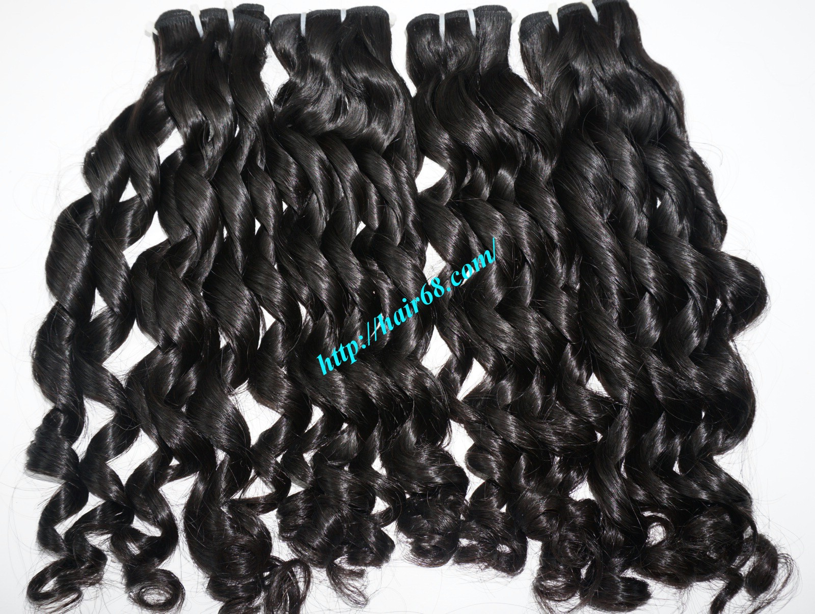 20 inch - Weave Loose Curly Hair Extensions - Double Drawn 7