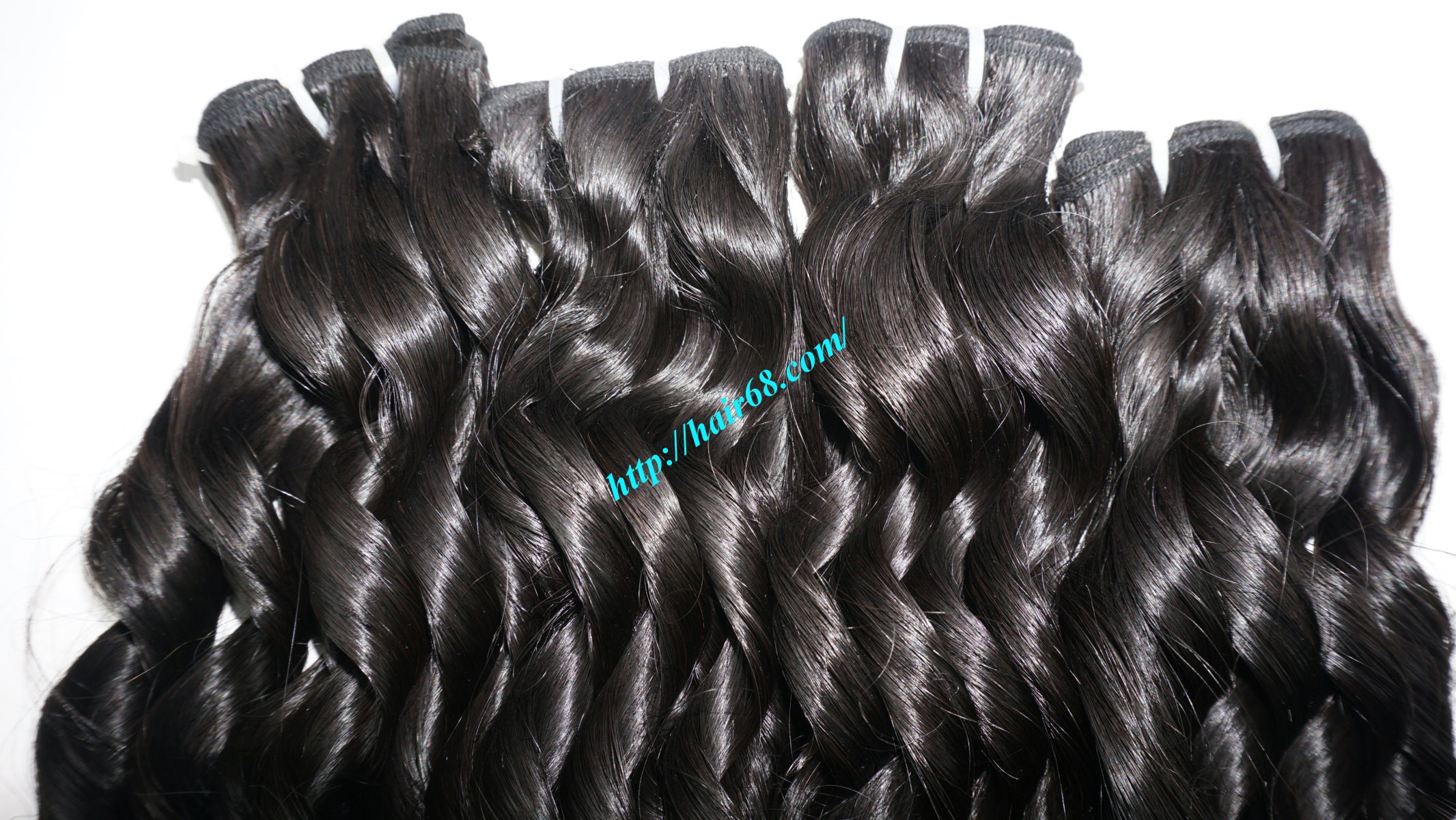 20 inch - Weave Loose Curly Hair Extensions - Double Drawn 8