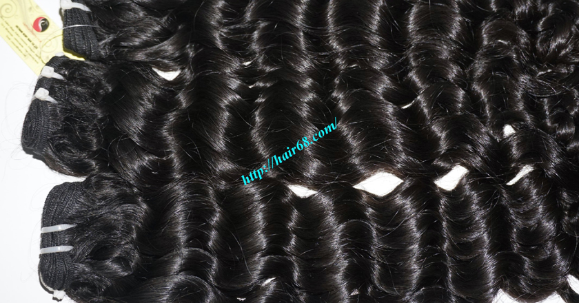 20 inch Curly Human Hair Weave 1