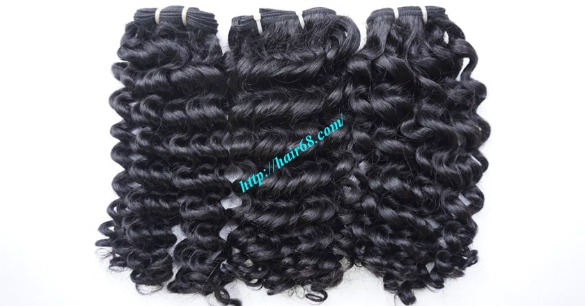 20 inch Curly Human Hair Weave 3