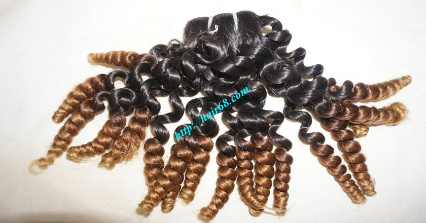 20 inch Curly Human Hair Weave 5