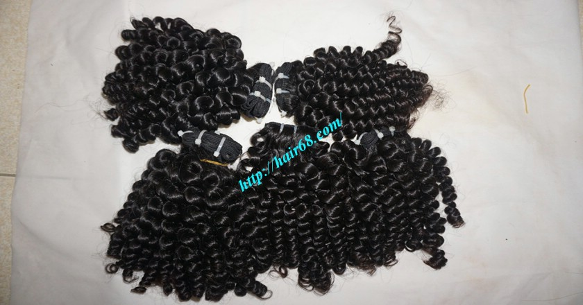 20 inch Curly Human Hair Weave 8