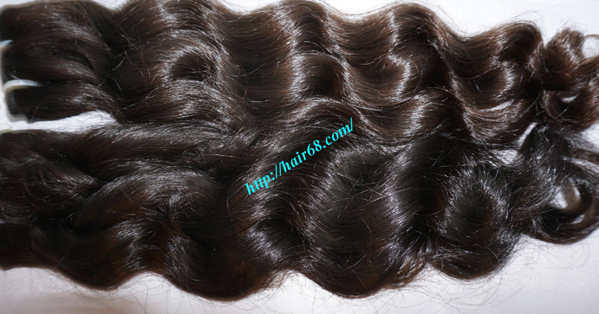 20 inch Remy Hair Weave Extensions - Steam Wavy 1
