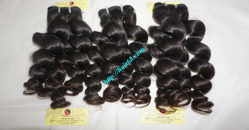 20 inch Remy Hair Weave Extensions - Steam Wavy 4