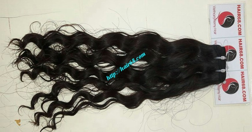 20 inch Remy Hair Weave Extensions - Steam Wavy 6