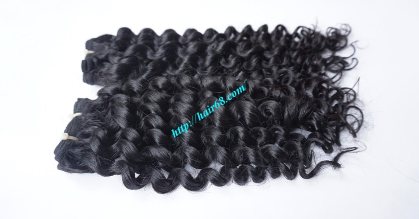 22 inch Black Curly Hair Weave 2