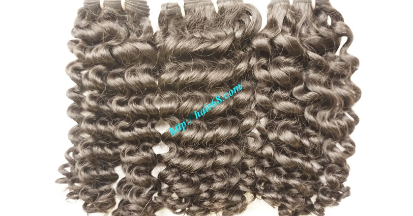 22 inch Black Curly Hair Weave 3