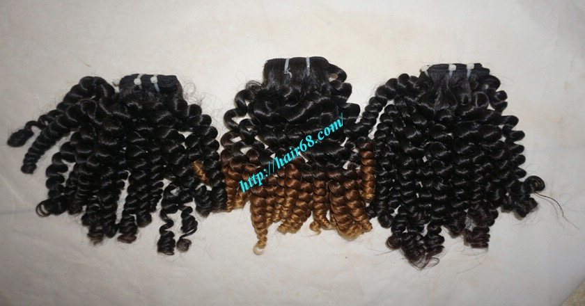 22 inch Black Curly Hair Weave 1