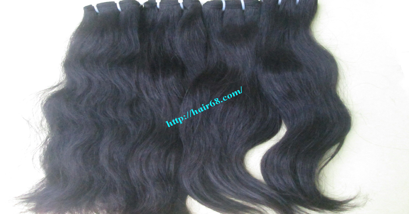 22 inch Wavy human hair weave – Natural Wavy 1