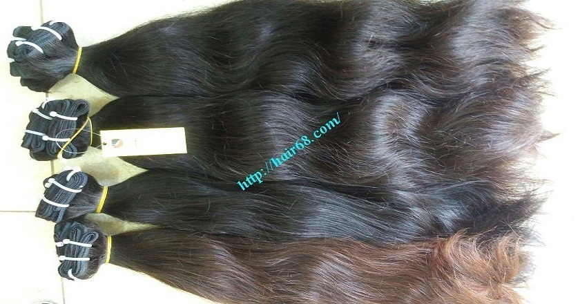 22 inch Wavy human hair weave – Natural Wavy 2
