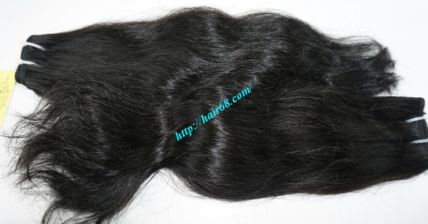 22 inch Wavy Remy Hair Weave - Natural Wavy 3