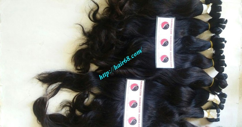 22 inch Wavy Remy Hair Weave - Natural Wavy 5
