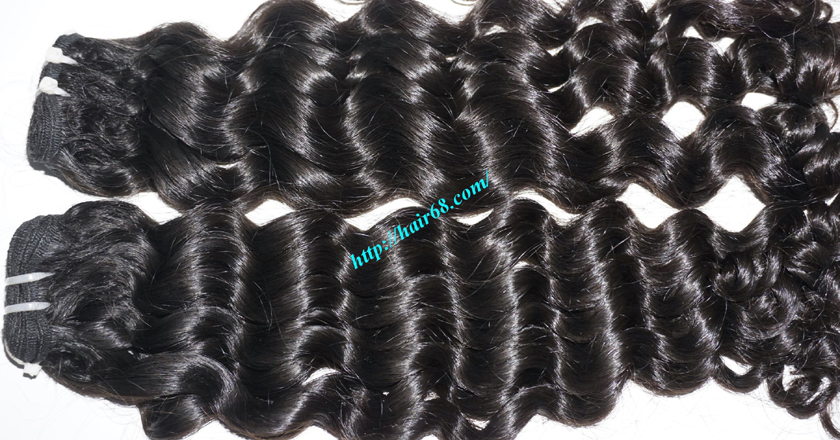 26 inch Curly Weave Remy Hair Extensions 1