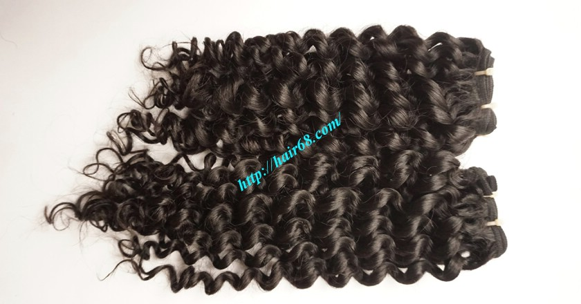 26 inch Curly Weave Remy Hair Extensions 3