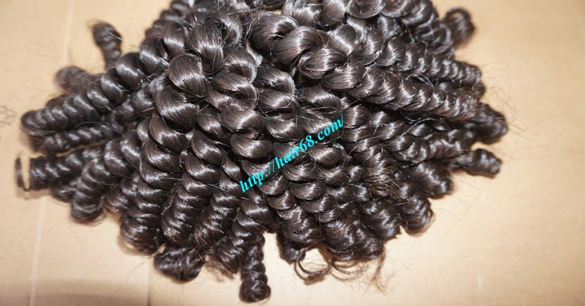 26 inch Curly Weave Remy Hair Extensions 4