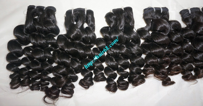 26 inch Remy Human Hair Extensions - Steam Wavy 4