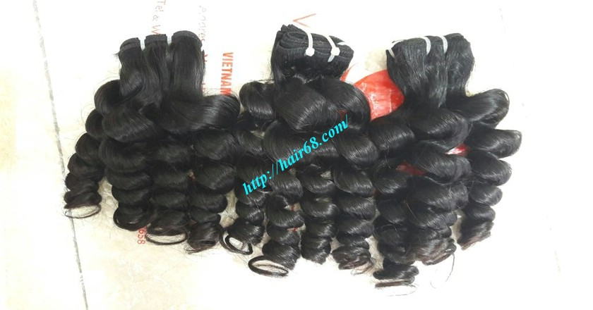 26 inch Remy Human Hair Extensions - Steam Wavy 5
