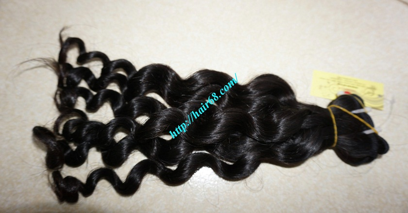 26 inch Remy Human Hair Extensions - Steam Wavy 6