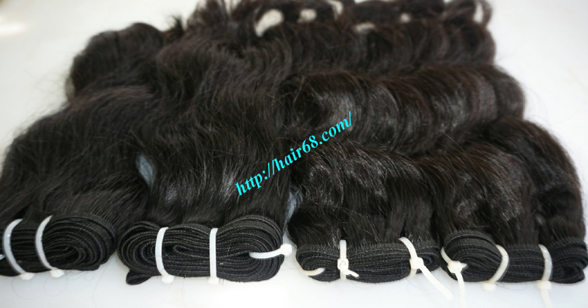 28 inch Natural Hair Weave Extensions - Steam Wavy 1