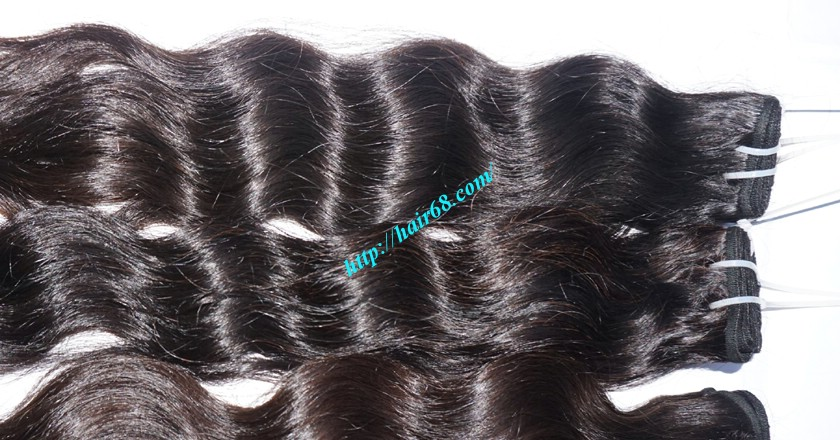 28 inch Natural Hair Weave Extensions - Steam Wavy 2