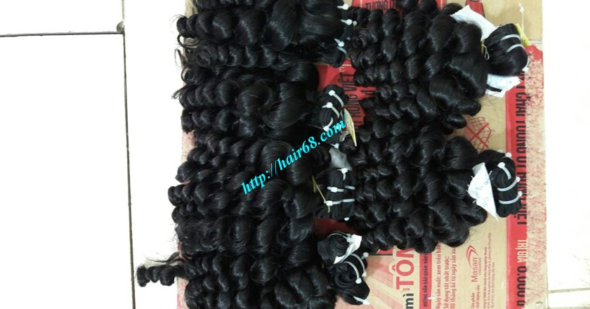 28 inch Natural Hair Weave Extensions - Steam Wavy 4