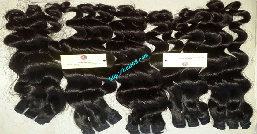 28 inch Natural Hair Weave Extensions - Steam Wavy 5