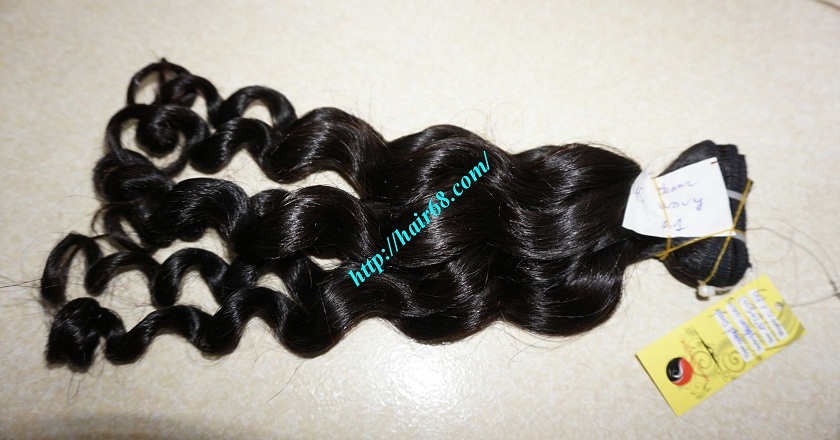 28 inch Natural Hair Weave Extensions - Steam Wavy 6